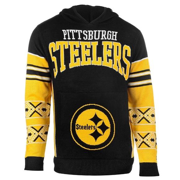 Pittsburgh Steelers Big Logo Hooded Sweater be4f1ab79